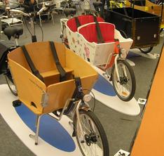 上海自転車展に展示された中国メーカー製の箱自転車